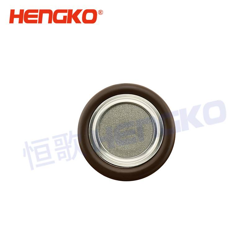 High temperature resistance sintered stainless steel centering ring with O-ring SS304 seal center ring disc filter used for helium leak detector Featured Image