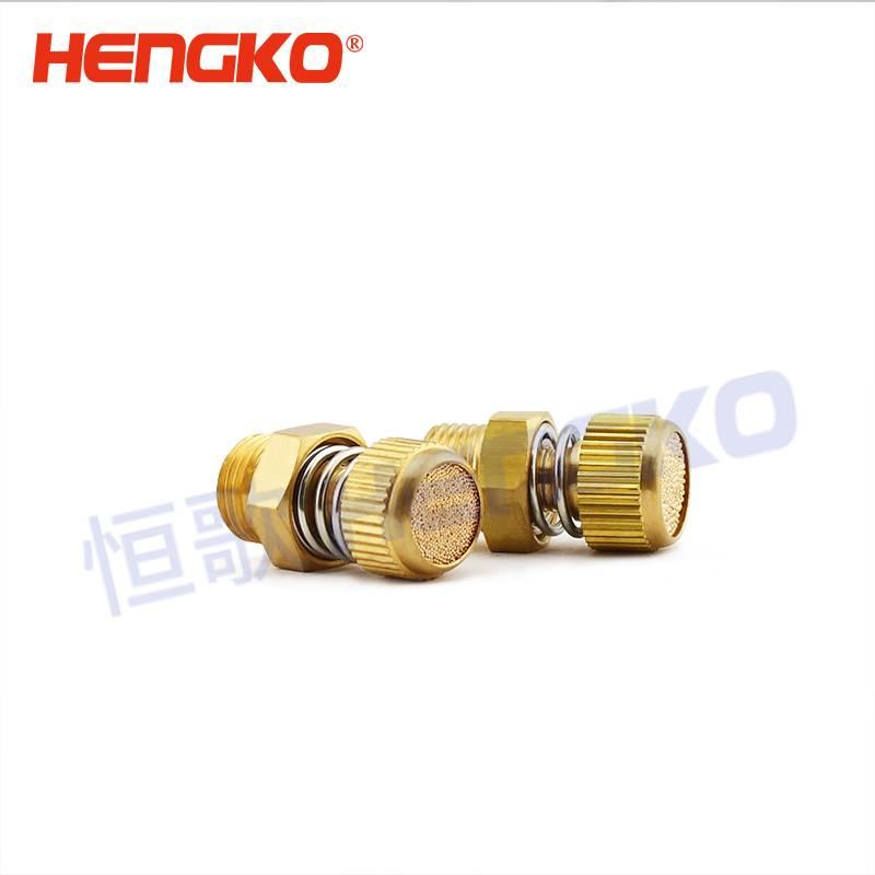 10 X 1//4 NPT Sintered Bronze Brass Pneumatic Valve Sound Noise Muffler Silencer
