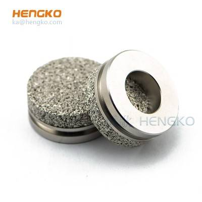 Customized size seamless sintered porous metal stainless steel 304/316L powder sintering filter disc used for Helium Leak Detector