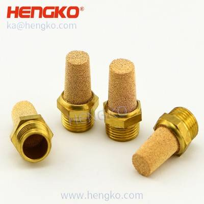 Pneumatic Sintered Bronze Brass Porous Muffler Filter 1/8″ Male HBSL-B Noise Reduce Silencer