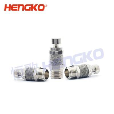 HENGKO customized High quality sintered stainless steel motorcycle pneumatic exhaust flat muffler filter