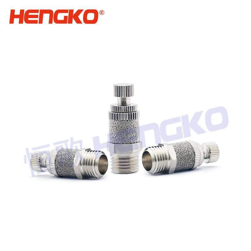 HENGKO customized High quality sintered stainless steel motorcycle pneumatic exhaust flat muffler filter Featured Image