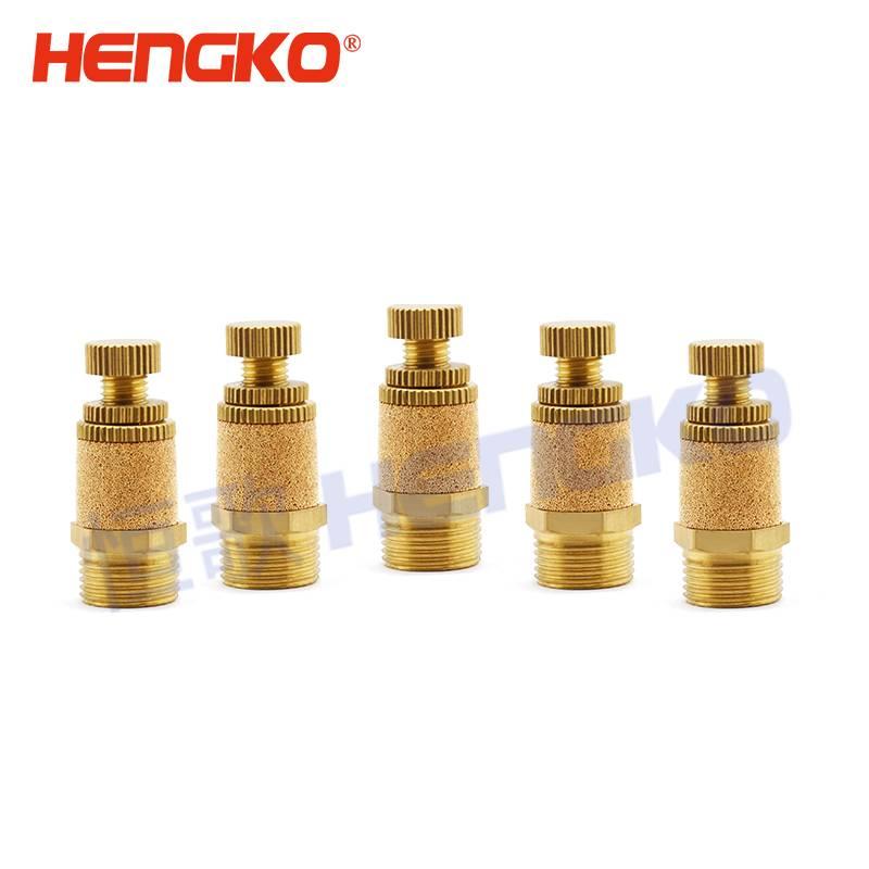 4 Pcs M5 Exhaust Air Noise Sintered Brass Pneumatic Muffler