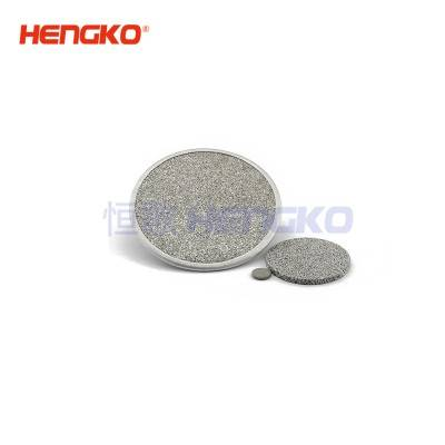 sintered metal powder ss 316L stainless steel disc filter with ring