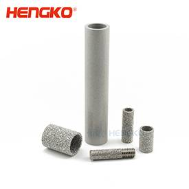 High performance porous sintered metal stainless steel isostatic filters tubes support liquid and gas applications