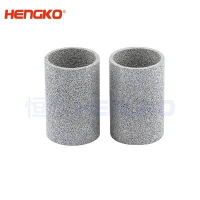 Microns long service life professional manufacturer customized  sintered porous powder metal filter element/tube used for polluted water filtration