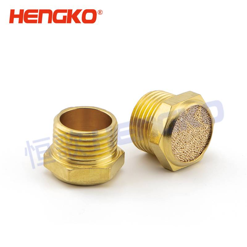 "OEM/ODM Manufacturer Porous Sparger - China suppliers brass air eliminator pneumatic muffler with 1/8"" 1/4"" 3/8"" 1/2"" G thread – HENGKO"