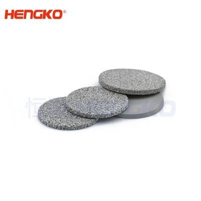 China supplier long service life D9.5*H9.5 60-90um 316L stainless steel sintered porous metal filter disc used for filtration of fluids