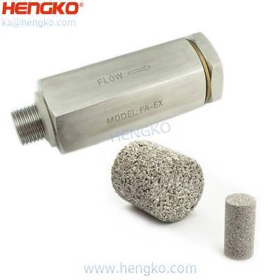 Stainless steel gas safety device in-line flame arrester valve (sintered filter element), back fire relief valve