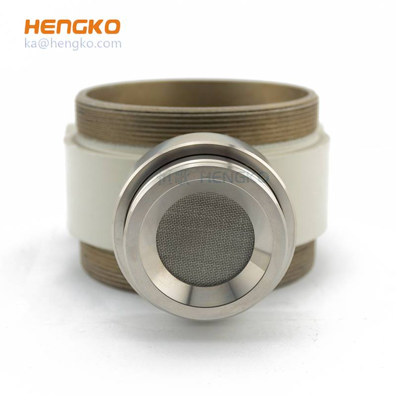 China wholesale Combustible Gas Leak Detector - custom gas detector component – stainless steel 316L housing + sintered rupture disc – HENGKO