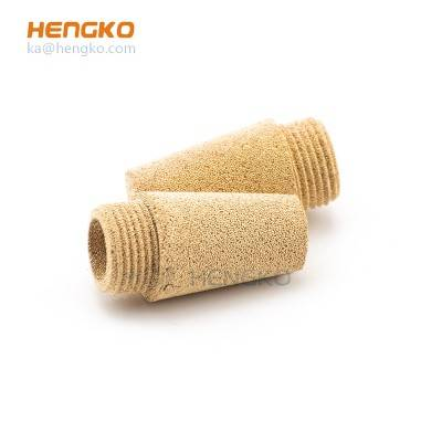 "10Pcs/Lot HD Flat slotted and sintered porous metal bronze muffler silencer M5 1/8"" 1/4"" 3/8""1/2"" copper fitting"