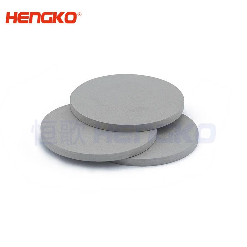 China supplier long service life D9.5*H9.5 60-90um 316L stainless steel sintered porous metal filter disc used for filtration of fluids Featured Image