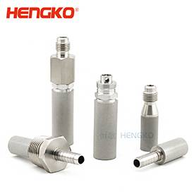 0.5 2 micron stainless steel sintered porous beer carbonation aeration home brew air stone diffuser