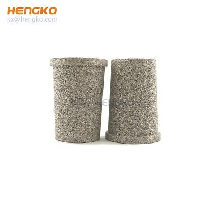 HENGKO powder sintered stainless steel 316L porous metal-air taper cup filter media for filtration system