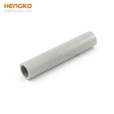 0.2um to 90 micron 5 – 800 mm long powder or wire mesh porous sintered metal stainless steel filter tube for polluted water filtration
