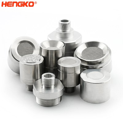 HENGKO Stainless steel flame arrestors sensing element gas monitor explosion proof protection housing for carbon monoxide detector