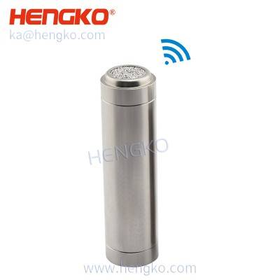 Wireless high temperature and relative humidity monitoring recorder with sinrtered metal porous stainless steel filter disc