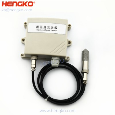 Air temperature and relative humidity sensor with porosity stainless steel probe protection cap cover used for agricultural greenhouse