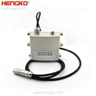 HENGKO analog outdoor humidity dew point temperature sensor transmitter for HVAC & building control, Current Loop or Modbus, 2% accuracy