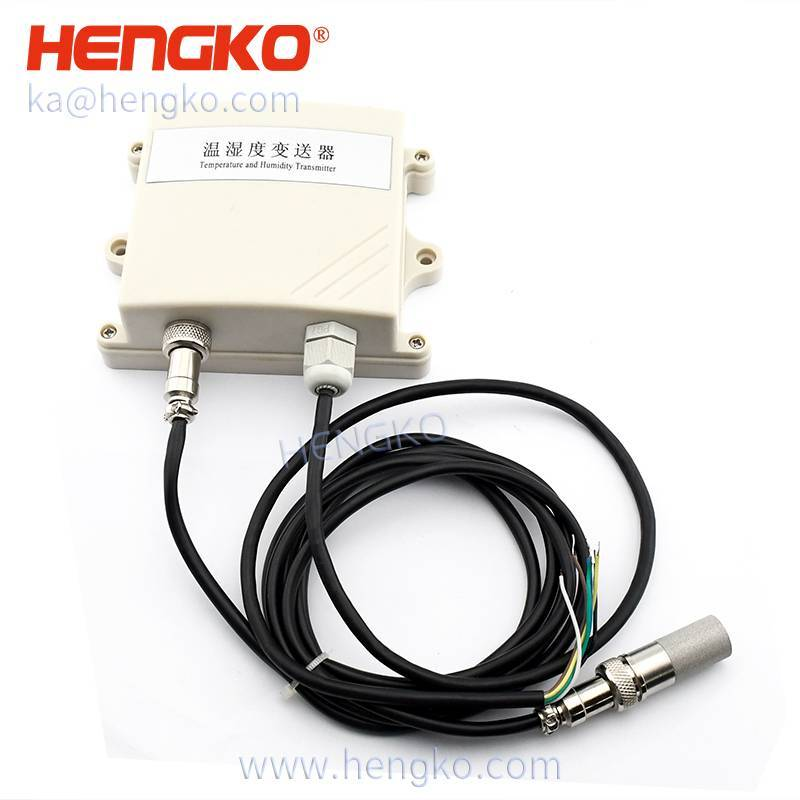 HENGKO analog outdoor humidity dew point temperature sensor transmitter for HVAC & building control, Current Loop or Modbus, 2% accuracy Featured Image