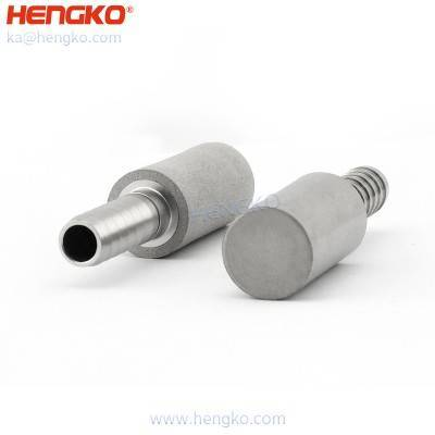 HENGKO custom 5 15um pore size air diffusion carbonation stone with Tri Clamp connection for yeast manufacturer breweries