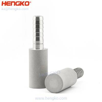 0.5 2 Micron Stainless Steel Aeration Stone Carbonating Diffusion Stone with 1/4 1/8 Inch Barb for aeration & carbonation