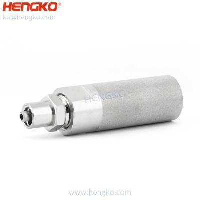 Food grade sintered SS 316L stainless steel 0.5 2 micron hexagon nut thread barb air ozone aeration stone