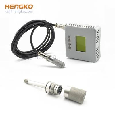 Relative air humidity and temperature sensor sintered stainless steel material probe filter housing
