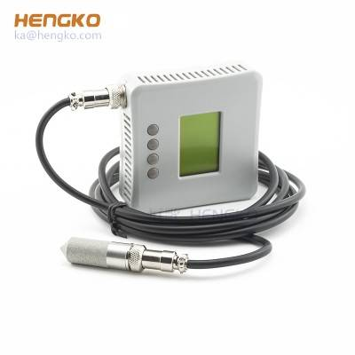 HENGKO industrial RS485 smart temperature and humidity digitail sensor transmitter sensor probe with cable, -20℃-60℃ 0-100%RH