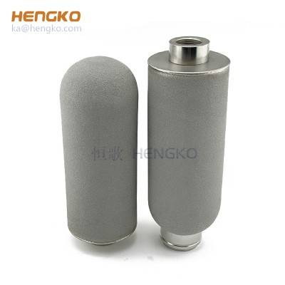 2 10 20 25 microns porous SS 304/316L metal sintered stainless steel filter tube for liquid filtration