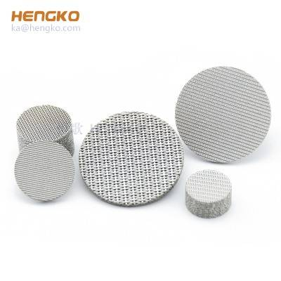 Custom microns mesh powder sintered porous SS 316L stainless steel filter disc