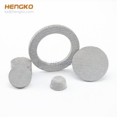 custom 0.2 5 7 40 50 70 90 microns porosity sintered metal powder ss 316L stainless steel filter disc