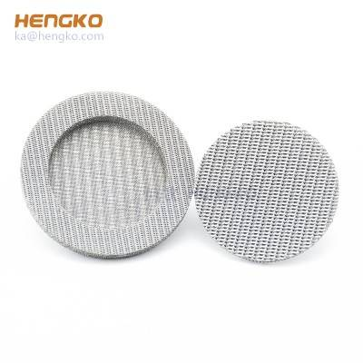 Customized long service life sintered porous stainless steel 304/316L wire mesh/powder filter for micron-sized filtration application