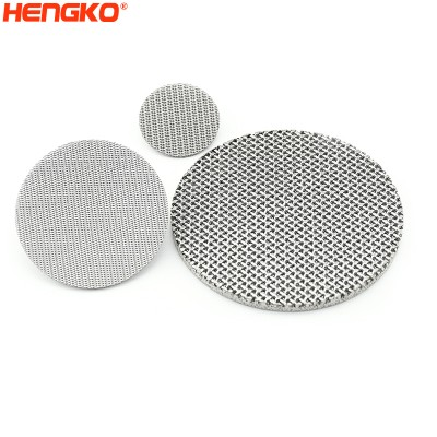 2 5 50 100 150 300 Microns porous 304 316L SS stainless steel wire sintered mesh filter disc
