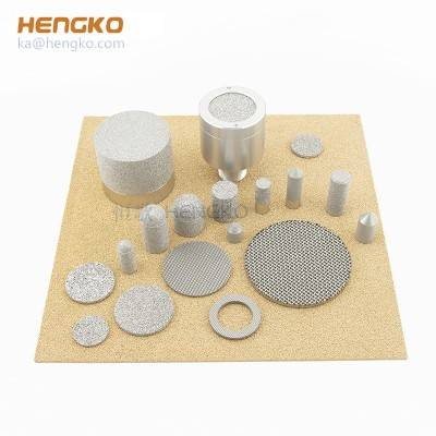 sintered porous metal filter material media , porosity 0.2 μm ~ 100 micron titanium monel nickel inconel brass bronze 316L stainless steel
