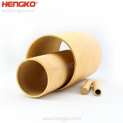 3 um to 90 Microns pore porous metal  sintered bronze filter pipe fitting for filtration system micro oil filter