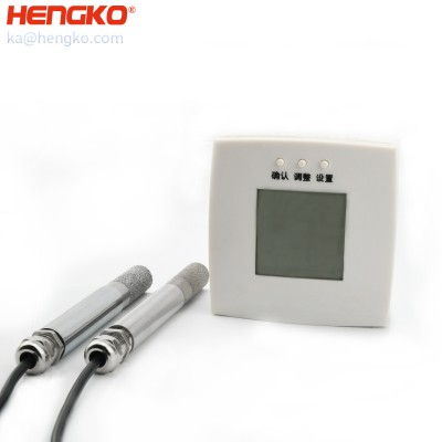 IP66 wireless SHT30 single bus industrial temperature and humidity sensor transmitter probe soil moisture I2C sensor stainless steel probe filter protection covers