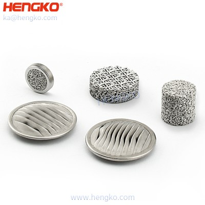 Sintered porous metal pleated disc filters ( small sintered stainless steel mesh disc filter) for use on inkjet printers