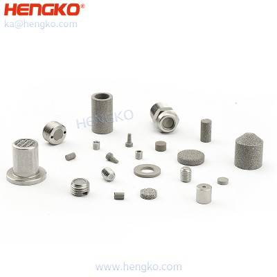 Skilled 0.2 to 120 microns micro porosity brass inconel monel 316 316L stainless steel metal sintered filters by HENGKO