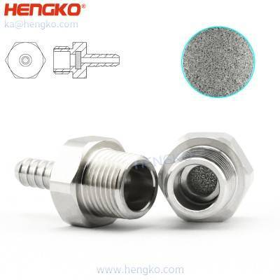 5 10 30 40 microns medical level powder sintering stainless steel 316L inline filter for the O2 circuit ventilator filter