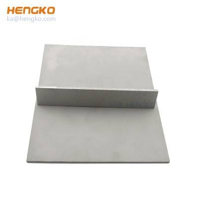 Microporous durable wholesale stainless steel 316 air diffuser filter sheet can be used in chemical industry, pharmaceutical industry
