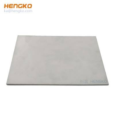 High-speed liquid sintered porous stainless steel 316 316L metal wicks filter plate used for high viscosity liquid and gas filtration