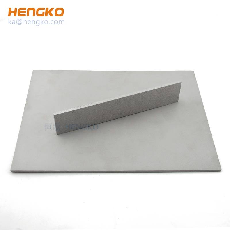 Corrosion resistant microns 316L stainless steel porous sintered filter sheet / plate for chemical industry, pharmaceutical industry