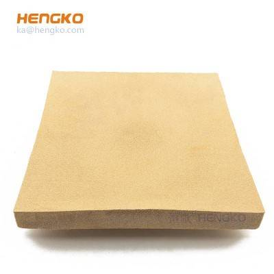 hepa sintered bronze stainless steel porous metal filter sheet for air/oil filter machine