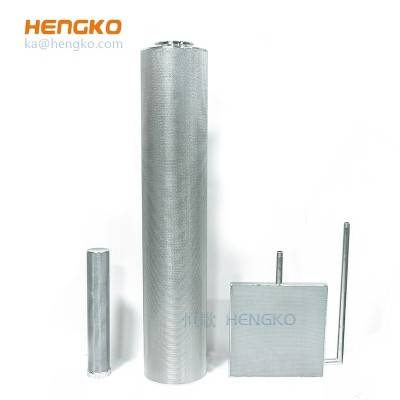 high temperature pressure air purification solid liquid separation – micron porous metal stainless steel cartridge filters