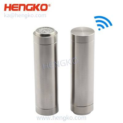 IP67 wireless SHT22 High-temperature dryers sensor 316 stainless steel temperature humidity dew point transmitters sensor detective probe ( dustproof housing )