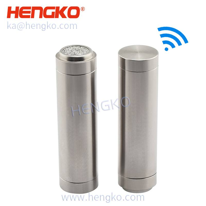 IP67 wireless SHT22 High-temperature dryers sensor 316 stainless steel temperature humidity dew point transmitters sensor detective probe ( dustproof housing ) Featured Image