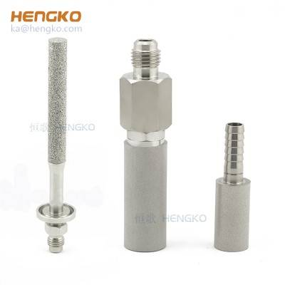 0.5 micron 2.0 stainless steel barb homebrew wort beer oxygen keg kit inline carbonation diffusion stone
