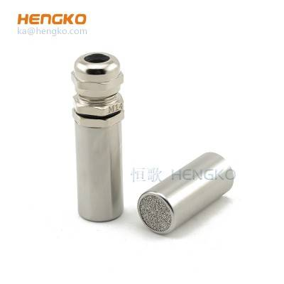 Dew point humidity temperature sensor stainless steel probe filter housing protection covers PH garden soil grain moisture meter