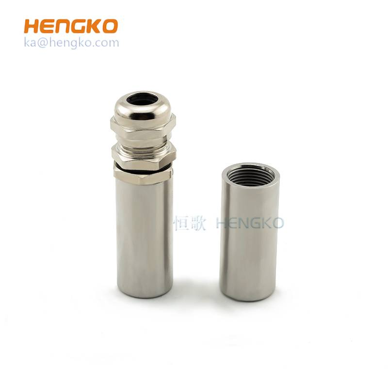 Dew point humidity temperature sensor stainless steel probe filter housing protection covers PH garden soil grain moisture meter Featured Image
